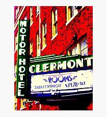 Clermont Motel Photographic Print
