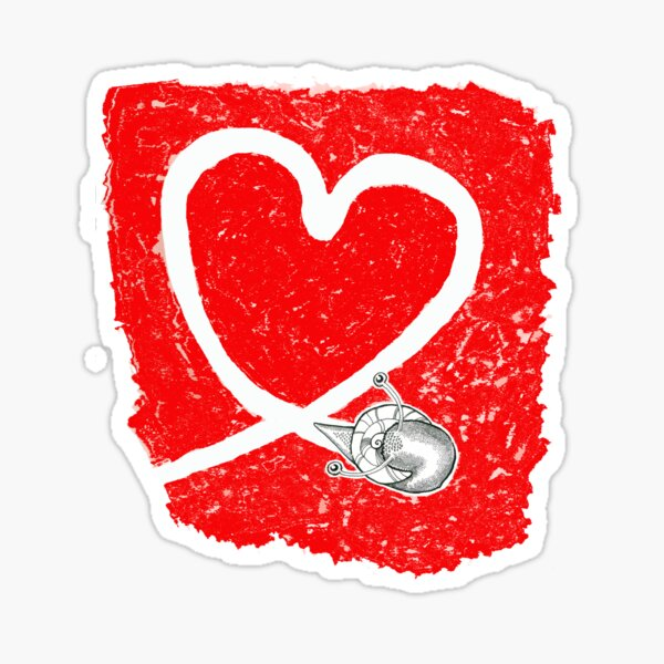 Valentine - Snail Love Sticker