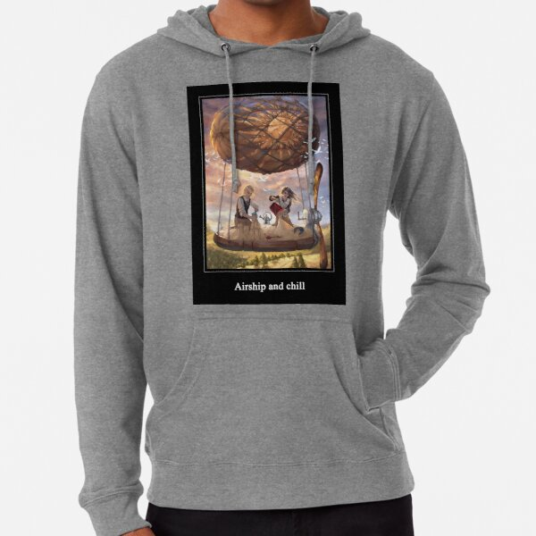 Airship and chill Lightweight Hoodie