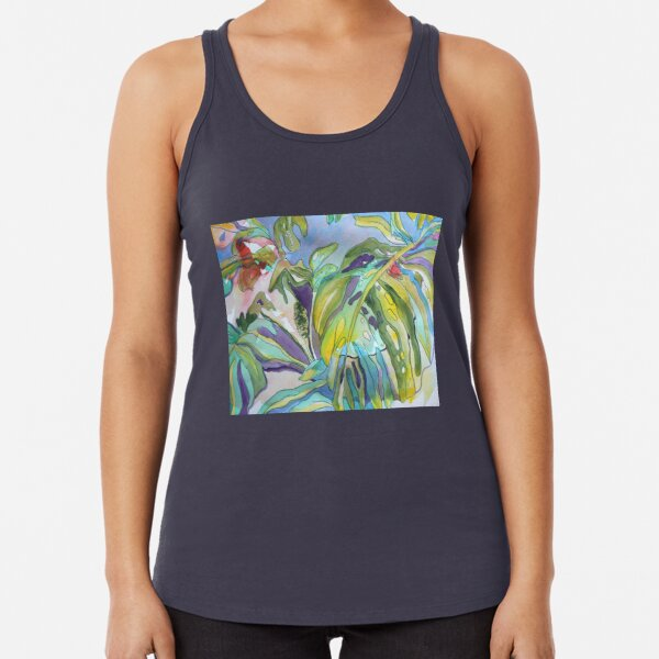 Split Leaf Philodendron in the Wild Racerback Tank Top