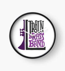L Train Brass Band Clock