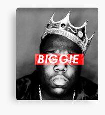 Biggie King of Brooklyn Canvas Print