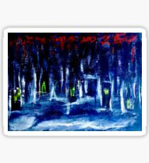 An Abstract Forest in Winter  Sticker
