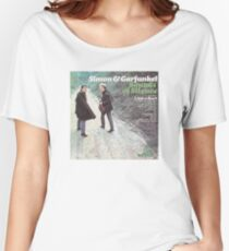 Simon and Garfunkel - Sound of Silence Album Cover Women's Relaxed Fit T-Shirt