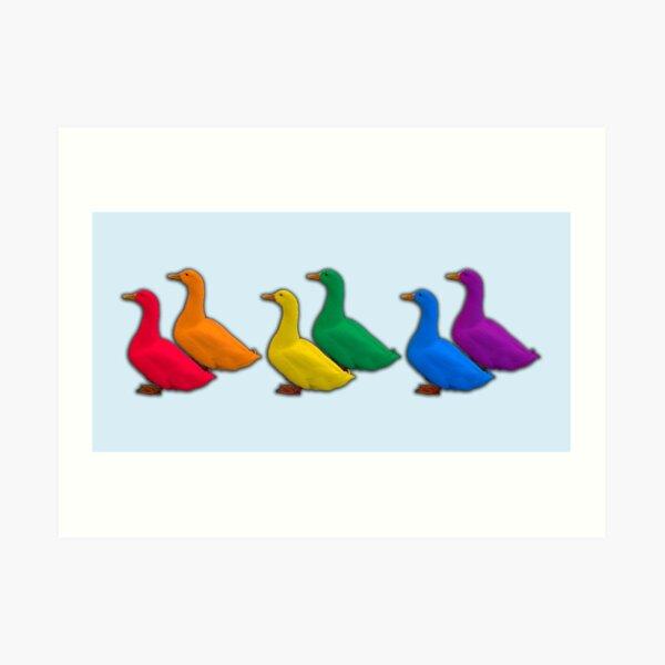 Queer Ducks Art Print