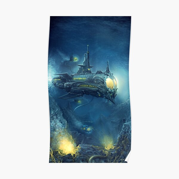 Steampunk Submersible Poster