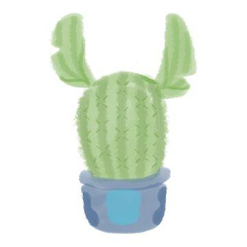 Lilo & Stitch, Stitch, Cactus  by ellietography