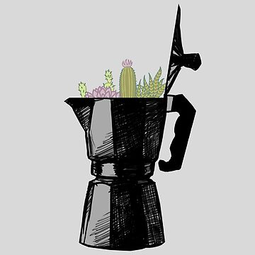 Espresso Maker with Cacti by ddtk