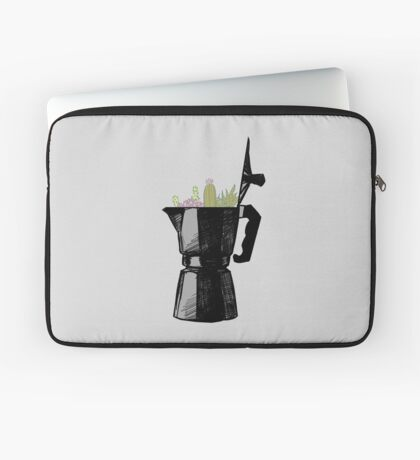 Espresso Maker with Cacti Laptop Sleeve
