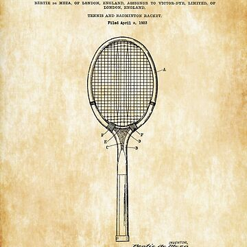 Original patent tennis racket by styleforever