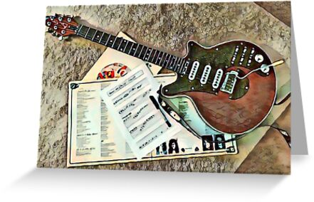 Red special guitar greeting cards by jamesrundle redbubble red special guitar by jamesrundle m4hsunfo