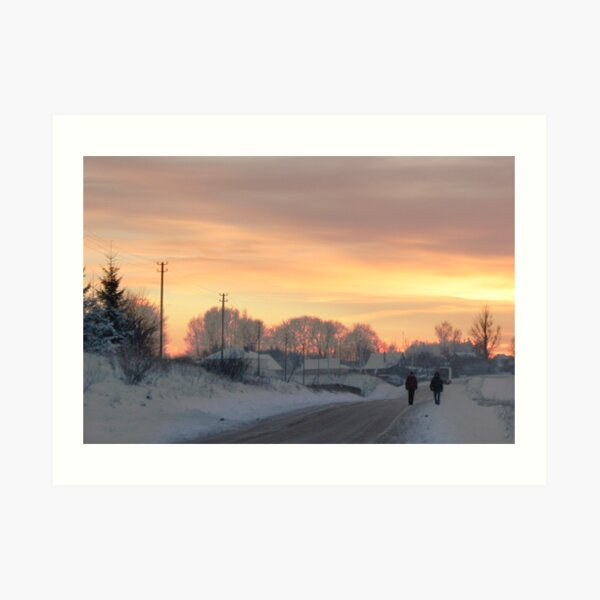 Two Farmers or Valentine in country Art Print