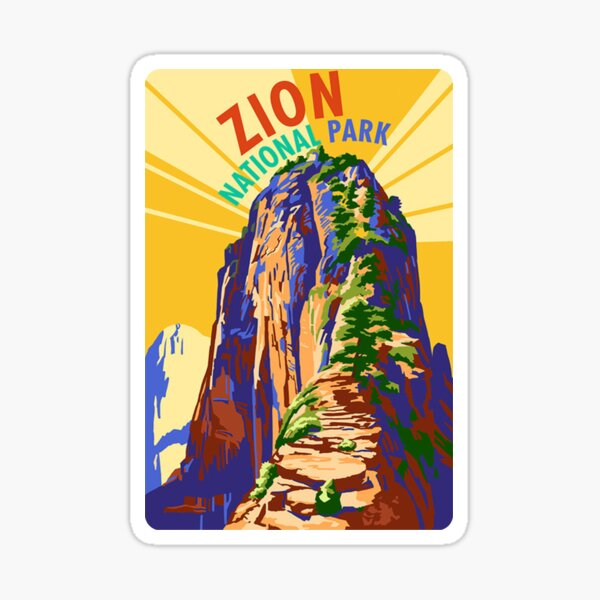 Zion National Park Travel Decal Sticker Utah, USA Sticker