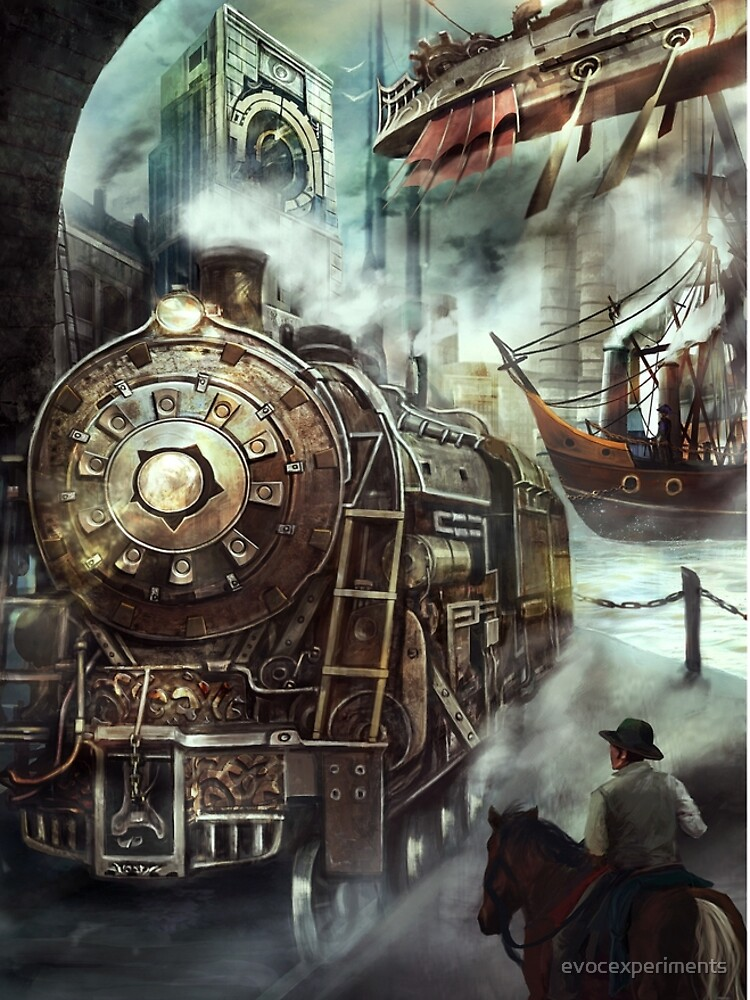 Steampunk World by evocexperiments