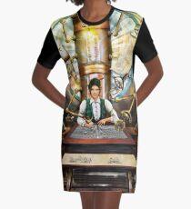 Steampunk Engineer Graphic T-Shirt Dress