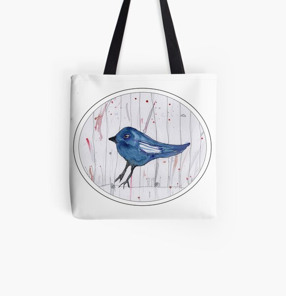 Mi'a's Bluebird All Over Print Tote Bag
