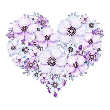 Purple Flower Heart by indulgemyheart