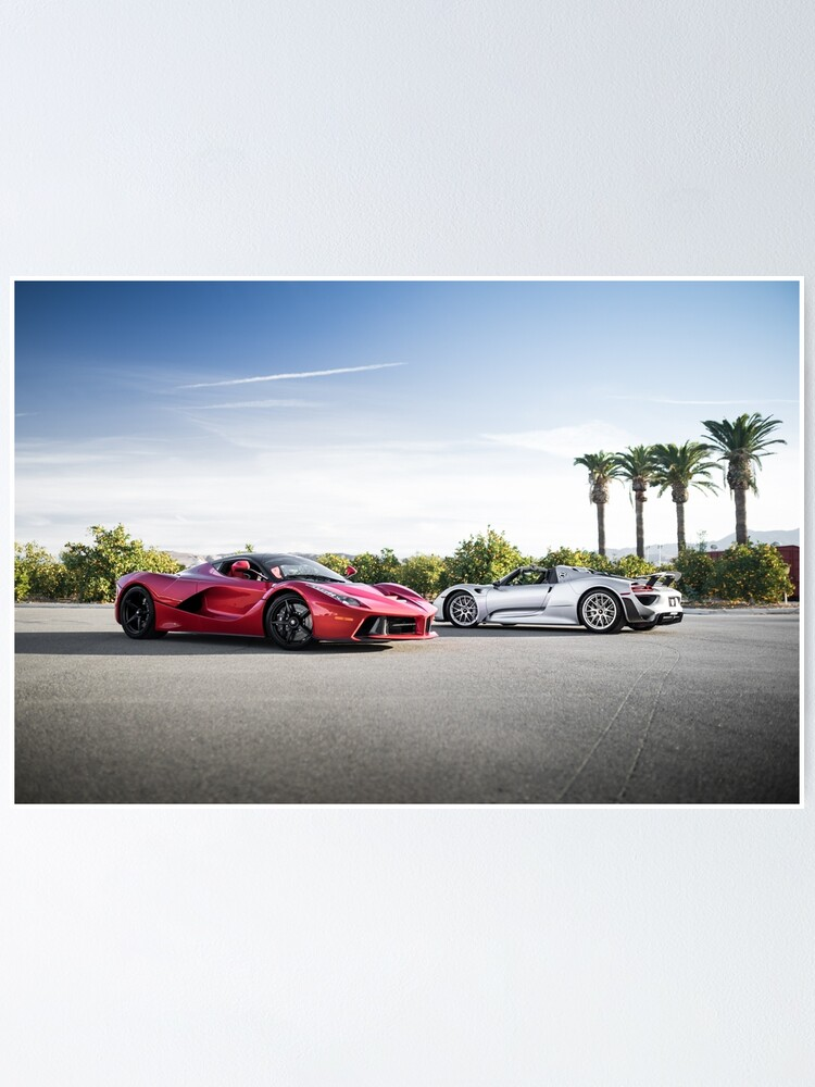 Alternate view of 918 and LaFerrari Poster