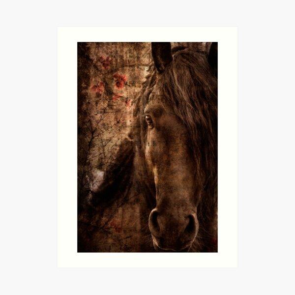Music of horse Art Print