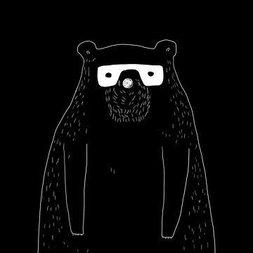 bear with glasses -  digital illustration by isabelrb