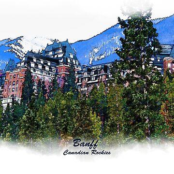 Mountain Castle - Banff Alberta Canada by NaturePrints