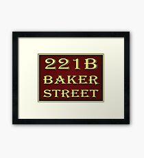 221b Baker Street - Red Framed Print