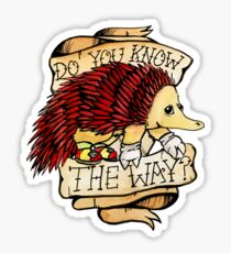 Do You Know The Way? Echidna Traditional Meme Tattoo Sticker