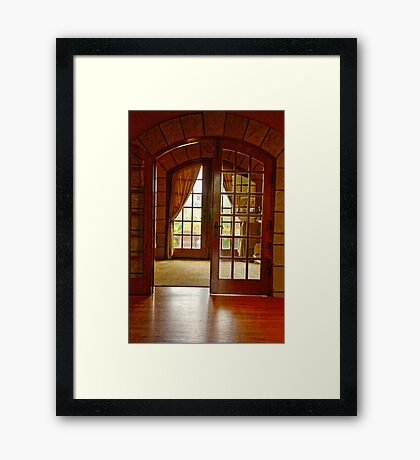Through to the Garden Framed Print