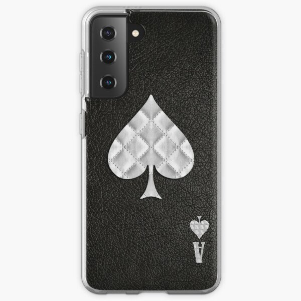 Ace of Spades Leather Samsung Galaxy Soft Case