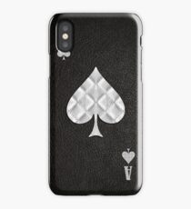 Ace of Spades Leather iPhone Case/Skin