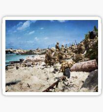 Marines on Beach Sticker