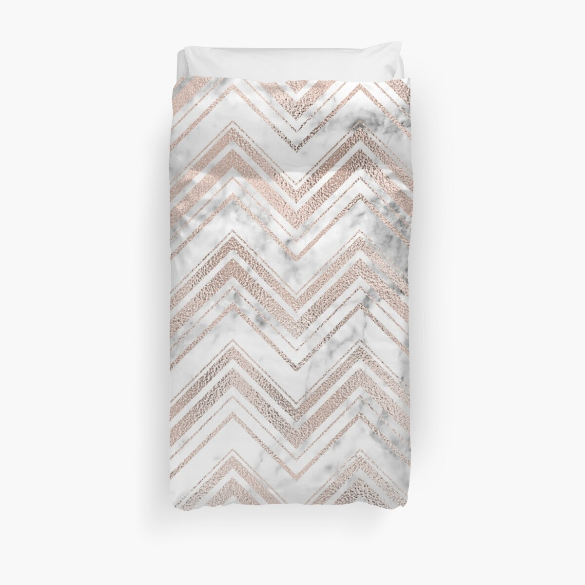 Rose gold and marble zig zag by peggieprints