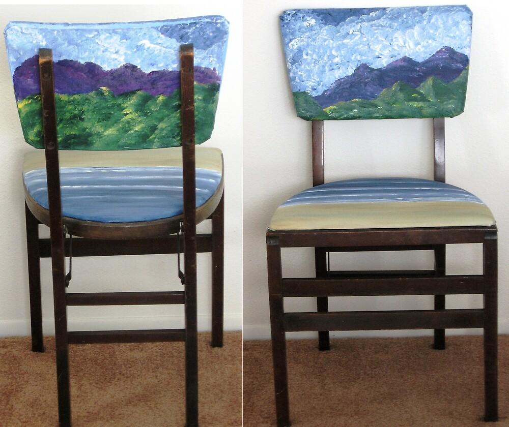 Folding Chairs III by WhiteDove Studio kj gordon