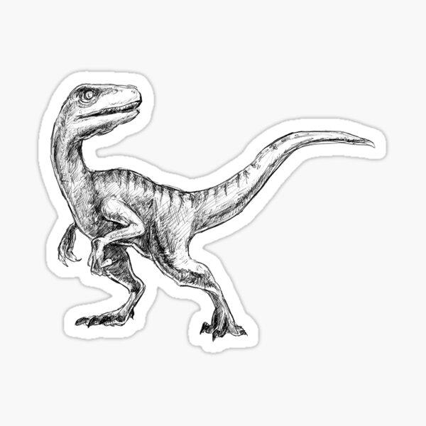 Velociraptor Pegatina