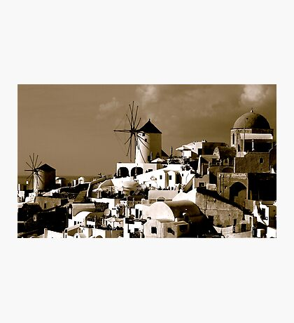 BLACK AND WHITE GREECE Photographic Print