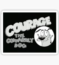 Courage the cowardly dawg show!!! Sticker