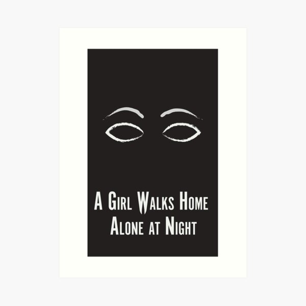 A Girl Walks Home Alone at Night Minimalist Poster Art Print