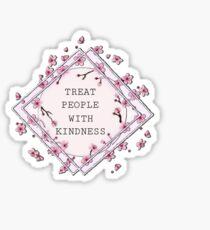 Harry Styles - Behandle Menschen mit Freundlichkeit Sticker
