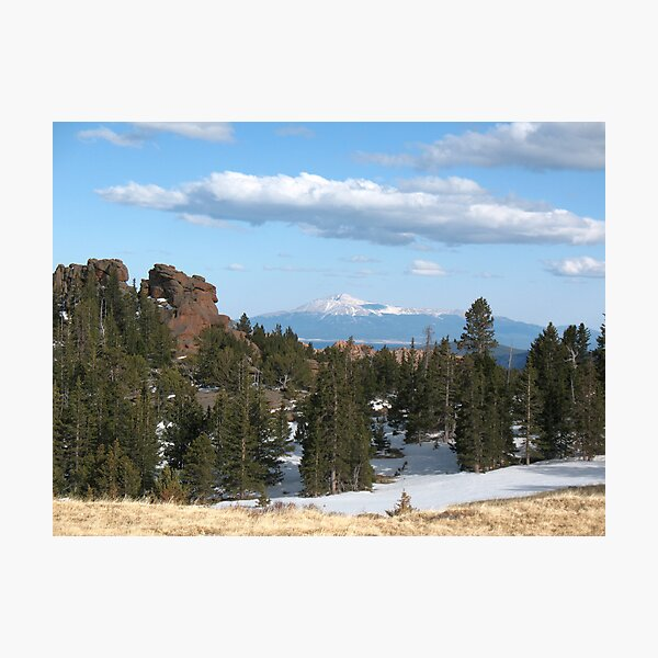 Pikes Peak from Bison Mountain Plateau Photographic Print