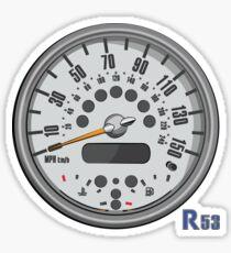 R53 speedometer Sticker
