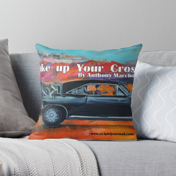 """""""Take up your cross""""  Throw Pillow"""
