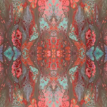 Exotic Fluid Art Pattern by JaneIzzyPhoto