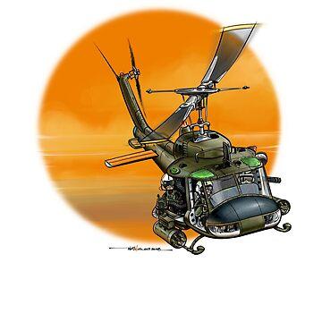 Huey UH-1 Cartoon  by ACVuConcepts