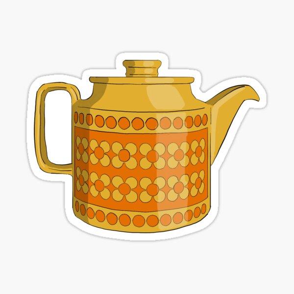 Hornsea Saffron Teapot Sticker