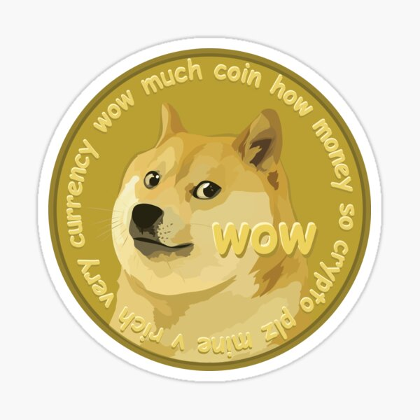 Doge Coin Sticker