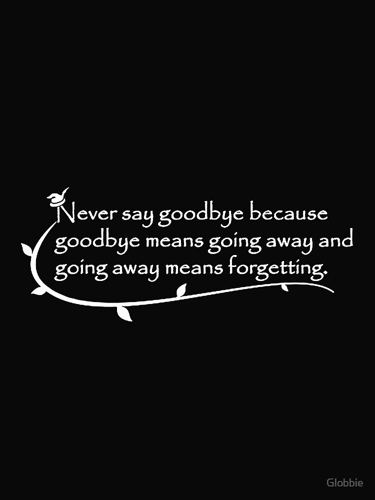 Never Say Goodbye Peterpan Contrast Tank By Globbie Redbubble