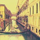 Gondola near Bridge of Sighs Venice by dunawori