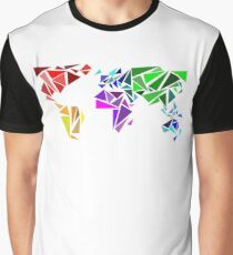 Colorful World Map as triangles Graphic T-Shirt