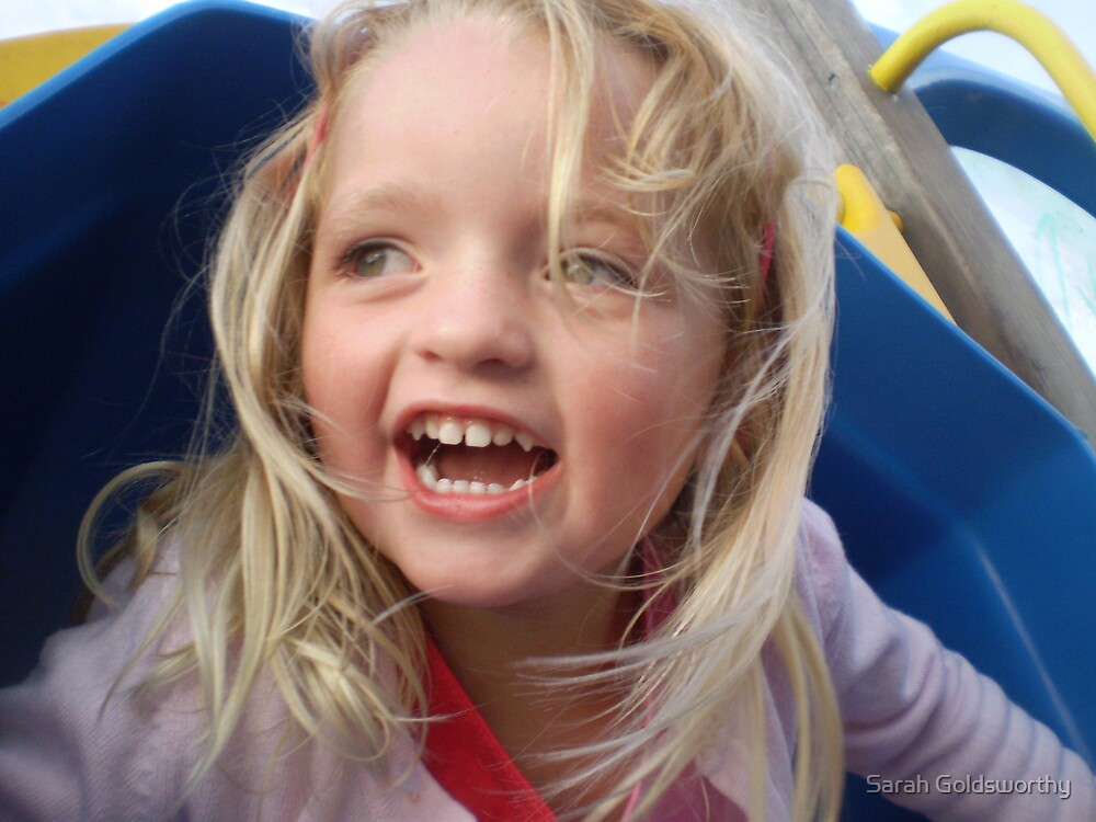 A childs laughter by Sarah Goldsworthy