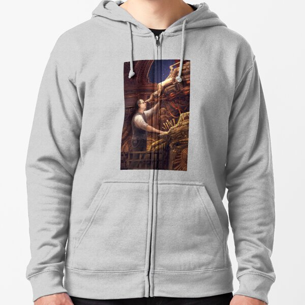 Steampunk Astronomer Zipped Hoodie
